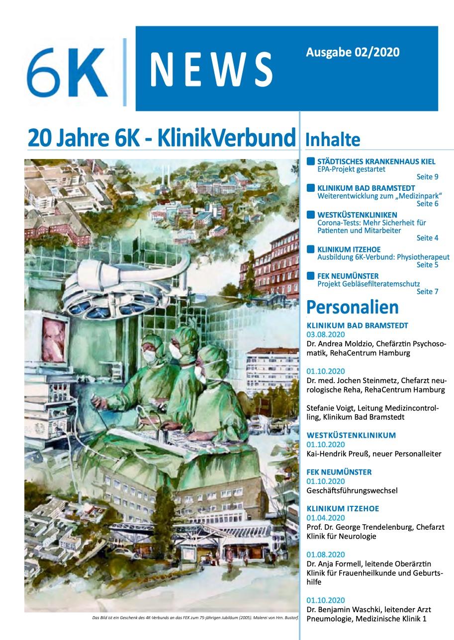 Der Newsletter des 6K Klinikverbundes – Ausgabe 02/2020